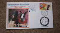 2003 GREAT DANE DOG LETS PARTY P STAMP SOUVENIR FDC 2