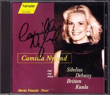 Camilla NYLUND Signiert LIEDER Britten Debussy Kuula Sibelius Beau Soir Seascape