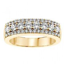 1.00 CT Round Diamond Wedding Band in 14k Yellow Gold New