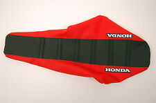 "New Red & Black Ribbed ""HONDA"" Seat cover XR80 XR100 01-03, CRF80 CRF100 03-2014"