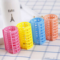 12pcs Hair Curlers Manual Easy to Use Plastic Sturdy Hair Roller for Barber Shop