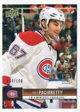 2012-13 UPPER DECK UD EXCLUSIVES MAX PACIORETTY 004/100 MONTREAL CANADIENS #91