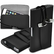 Belt Clip Pouch Holster Horizontal Flip Case Cover✔Stereo Headphones✔HTC