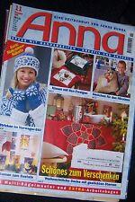 Anna November 1999 Sticken Stricken Häkeln Nähen Schönes zum Verschenken