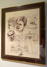 FRAMED AUTOGRAPHED ALAN JONES  LITHOGRAPH 1980 Albilad-Saudia WILLIAMS F1 CHAMP