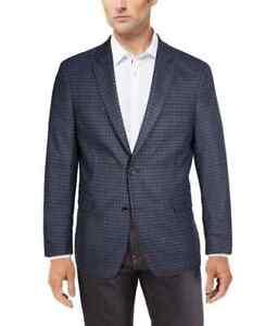 Tommy Hilfiger Trevor Men's Modern-Fit Check Patterned Blazer Blue/Brown-38S