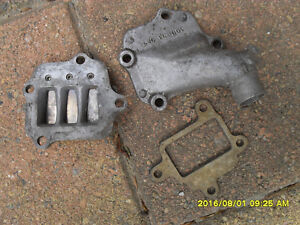 pw80k 1983 pee wee 80  inlet manifold and reed plate