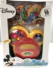 "Disney Mickey Mouse Together We Rock ""Sing with Me"" CD Player Plays 16 songs"
