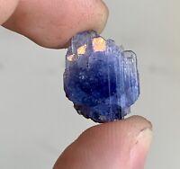 RARE 15.1 Carat Unheated Tanzanite Crystal Specimen W/ Pyrite Inclusions