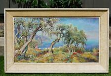 Original Oil Painting on Canvas - Mediterranean  Coastal Scene by Phyllis Nelson