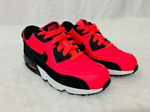 Bright Pink/ Black Nike Air Max 90 Shoes - Size 1.5Y