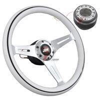 Fits Mazda 350MM WT Classic Wood Trim Steering Wheel+Hub Adaptor JDM Badge