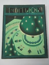 December 1935 FORTUNE Magazine with Petruccelli Jewelry Cover Art ( Deco Jade? )