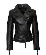 Whet Blu Women's Asymmetrical Zipper Leather Jacket