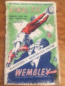 1948 F.A. CUP FINAL PROGRAMME -  BLACKPOOL v MANCHESTER U. 24/4/1948