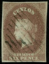 Ceylon   1857   Scott # 2    USED - Blued paper