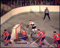 NHL 1964 Montreal Canadiens Charlie Hodge Defends Game Action 8 X 10  Photo Pic
