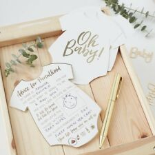 Gold Foiled Advice For The Parents Cards - OH BABY! - Baby Shower