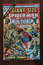 GIANT-SIZE SPIDER-MAN MAN-THING #5 Marvel comic book  add'l comics ship for FREE