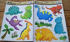 Wandsticker 13 tlg. Dino Wand Tattoo Deko Dinosaurier Sticker Fensterbild