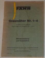 Betriebsanleitung / Teilekatalog Fahr Grasmäher Nr.1-4