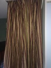 2- Custom Vertical  Pleated Lined Quality Linen  Drapes Gorgeous 25 X 90