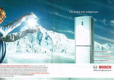 PUBLICITE ADVERTISING 114  2008  BOSCH  le GLASSKINE réfrigérateur ( 2p)