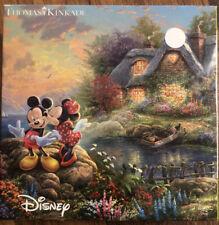 Disney Thomas Kinkade Mickey Minnie Mouse 750 Piece Jigsaw Puzzle *COMPLETE*