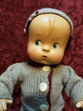 Vintage Effanbee Skippy Doll All Composition Painted Facial Feature Molded Hair