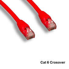 Kentek Red 3' CAT6 UTP Crossover Patch Cable 24 AWG 550MHz Ethernet RJ45 Network