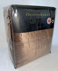 NWT DONNA KARAN KING CAPPUCCINO BROWN VELVET COLLECTION QUILT BLANKET