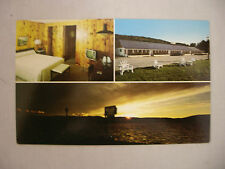 VINTAGE MULTIVIEW POSTCARD THE SUNSET MOTEL IN MUNISING MICHIGAN UNUSED