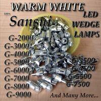 (5) G-5000 G-7000 G-7500 G-8000 G9000 WARM WHITE LED 8v WEDGE LAMP sansui
