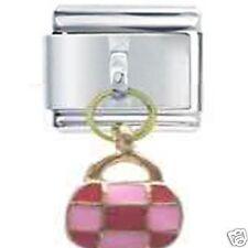 PINK & Red Bag-DAISY CHARM JSC Italian Charm Dangle Per Taglia Classica Bracciale