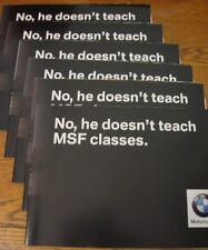 2003 BMW Motorcycle Brochure Poster LOT (6) pcs Jean P Goy Stunt 1100 1200 1150
