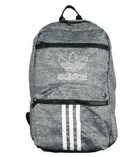 ADIDAS Originals National 3 Stripes Laptop Backpack Oynx Gray White Black