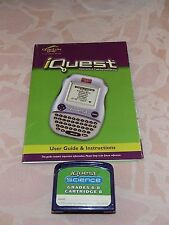 iQuest Interactive Talking Handheld, Science Grade 6-8 Cartridge & User Guide