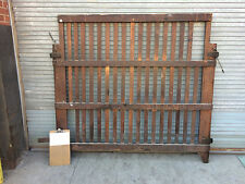 TWO antique Freight Elevator Gates SALVAGE Wood Room Dividers