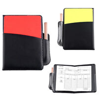 Referee Cards Yellow Red Pencil Football /Soccer Sports Wallet Notebook Set