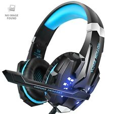 PS4 Headset, INSMART PC Gaming Headset Over-Ear Gaming Headphones with Mic LED L