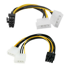 Molex 4 pin to 8-Pin Graphics Converter Cable PCI-E Riser Card Mining Machine