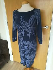 Ladies Dress Size 10 MONSOON Blue Knit Jumper Smart Casual Day Party