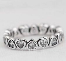 Forever More Love Heart S925 Sterling Silver Ring by Pandora's Kings NEW