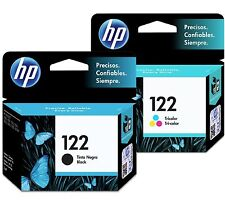 2 Pack - HP 122 Ink Cartridge Black + TRI-COLOR Original CH561HL, CH562H (Combo)