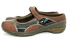 Jambu Women's Brown Suede and Patent  Leather Mary Jane Mules Size 7.5M