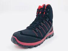 Polo Ralph Lauren Hillingdon Lace Up Boots Black Red Mens Size 9.5