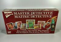 Clue Master Detective Board Game Parker Brothers 1988 100% Complete