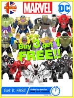 Marvel Dc Comics BIG Superhero Thanos Venom Hulk Custom Mini Figures fit Lego UK