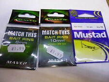 Maver Match This Bait Pins - 8mm & 10mm /and mustad pins set/3 boilie/pellet
