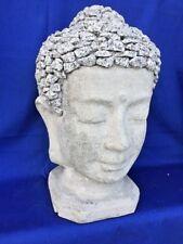 BUDDHA Garden Statue Head Meditation Zen Marble Granite Stone HANDMADE Unique